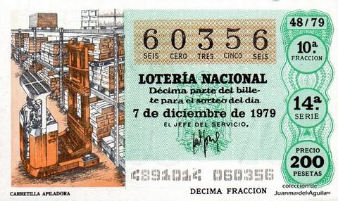 Décimo de Lotería 1979 / 48