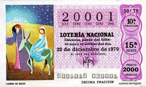 Décimo de Lotería 1979 / 50