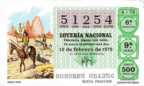 Décimo de Lotería 1979 / 6