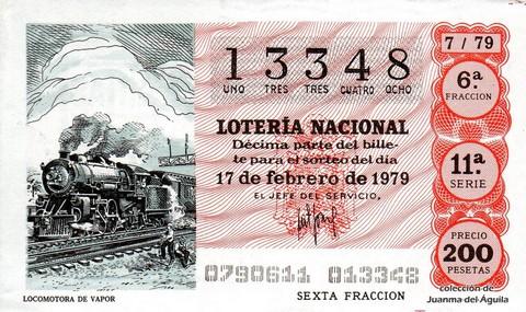 Décimo de Lotería 1979 / 7