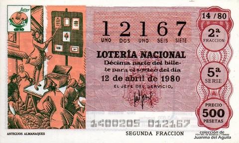 Décimo de Lotería 1980 / 14