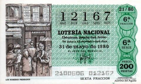 Décimo de Lotería 1980 / 21