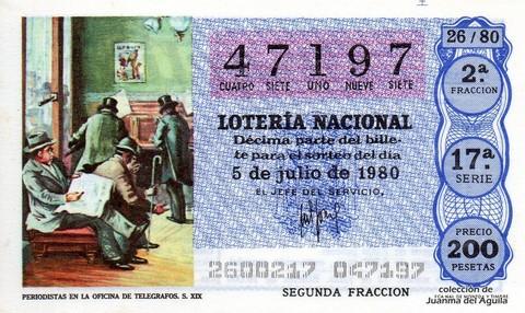 Décimo de Lotería 1980 / 26