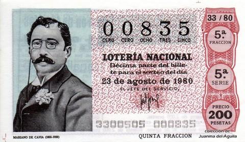 Décimo de Lotería 1980 / 33