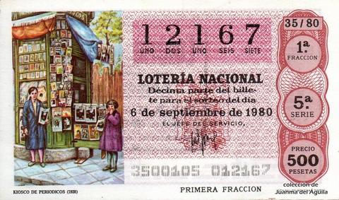 Décimo de Lotería 1980 / 35