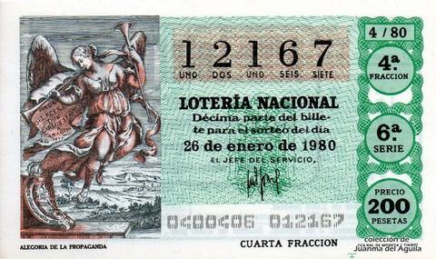 Décimo de Lotería 1980 / 4