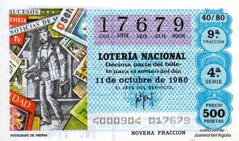 Décimo de Lotería 1980 / 40