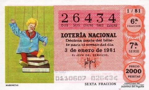 Décimo de Lotería 1981 / 1