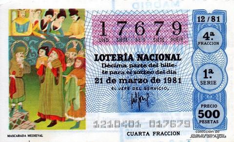 Décimo de Lotería 1981 / 12