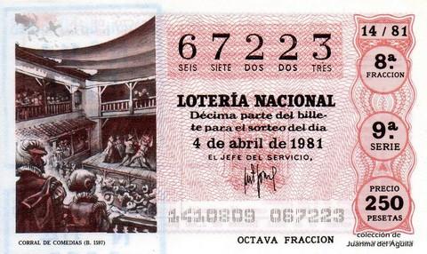 Décimo de Lotería 1981 / 14