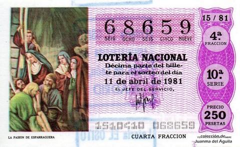 Décimo de Lotería 1981 / 15