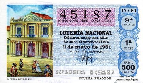 Décimo de Lotería 1981 / 17
