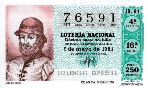 Décimo de Lotería 1981 / 18