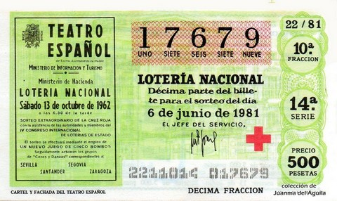 Décimo de Lotería 1981 / 22