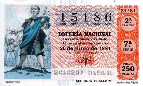 Décimo de Lotería 1981 / 24