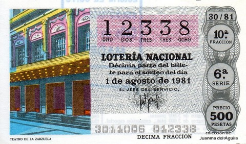 Décimo de Lotería 1981 / 30