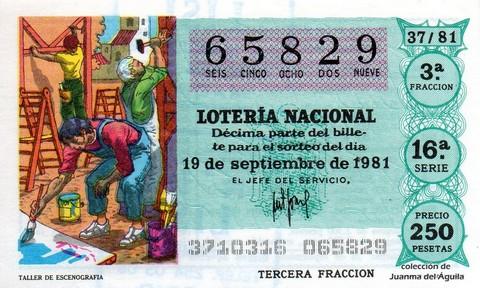 Décimo de Lotería 1981 / 37