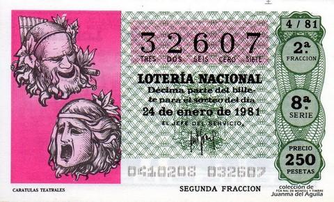 Décimo de Lotería 1981 / 4