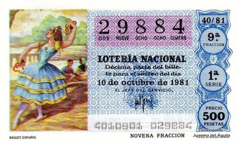 Décimo de Lotería 1981 / 40