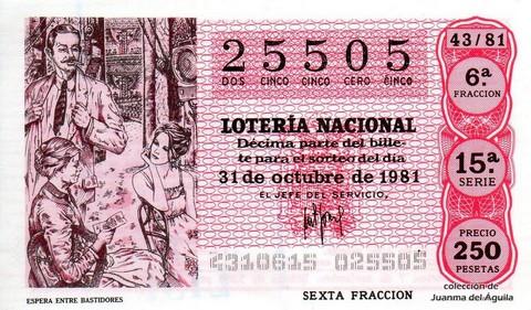 Décimo de Lotería 1981 / 43