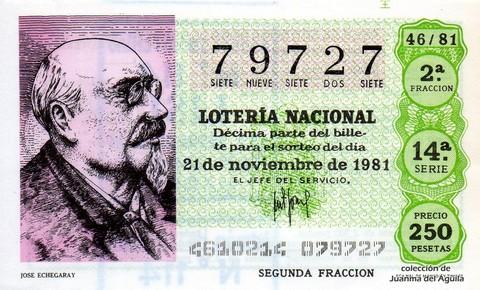 Décimo de Lotería 1981 / 46