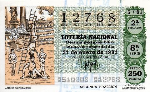 Décimo de Lotería 1981 / 5
