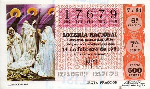 Décimo de Lotería 1981 / 7