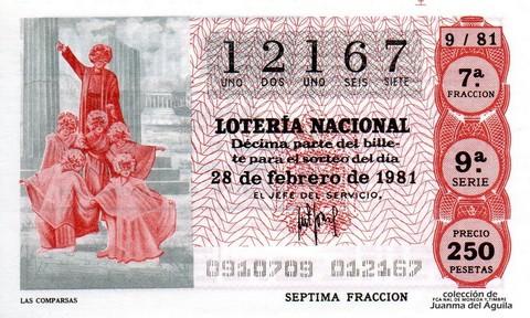Décimo de Lotería 1981 / 9