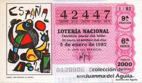 Décimo de Lotería 1982 / 1