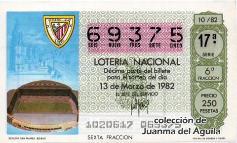 Décimo de Lotería 1982 / 10