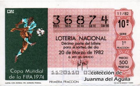 Décimo de Lotería 1982 / 11