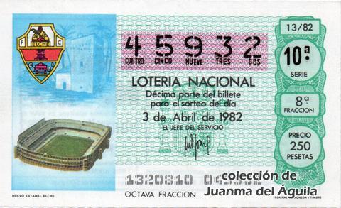 Décimo de Lotería 1982 / 13