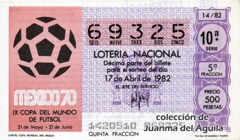 Décimo de Lotería 1982 / 14