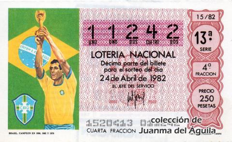 Décimo de Lotería 1982 / 15