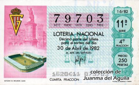 Décimo de Lotería 1982 / 16