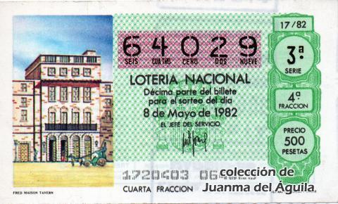 Décimo de Lotería 1982 / 17