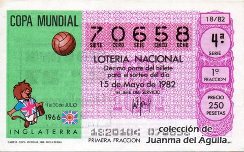 Décimo de Lotería 1982 / 18