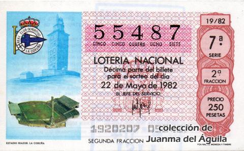 Décimo de Lotería 1982 / 19