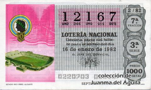 Décimo de Lotería 1982 / 2