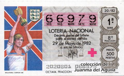 Décimo de Lotería 1982 / 20