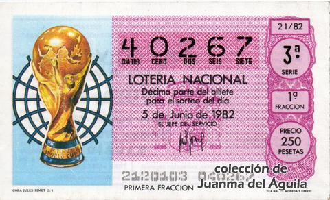 Décimo de Lotería 1982 / 21