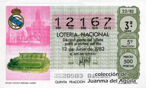 Décimo de Lotería 1982 / 22