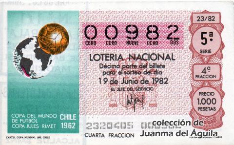Décimo de Lotería 1982 / 23