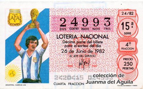 Décimo de Lotería 1982 / 24