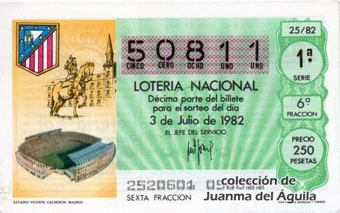 Décimo de Lotería 1982 / 25