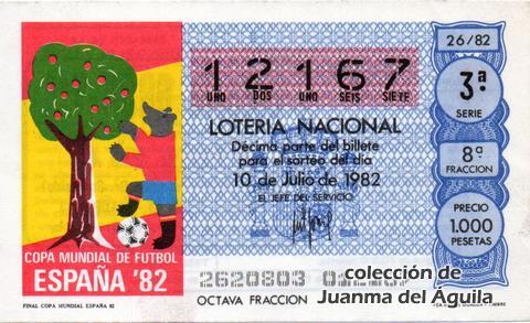 Décimo de Lotería 1982 / 26