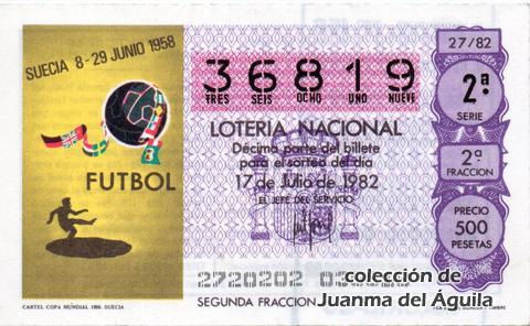 Décimo de Lotería 1982 / 27