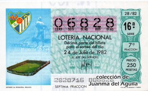 Décimo de Lotería 1982 / 28