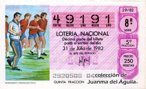 Décimo de Lotería 1982 / 29
