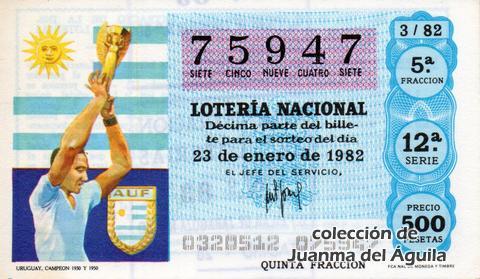 Décimo de Lotería 1982 / 3